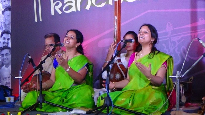Soulful rendering of carnatic vocals by Kanchana sisters during Kanchanotsava 2017, in Bangalore.