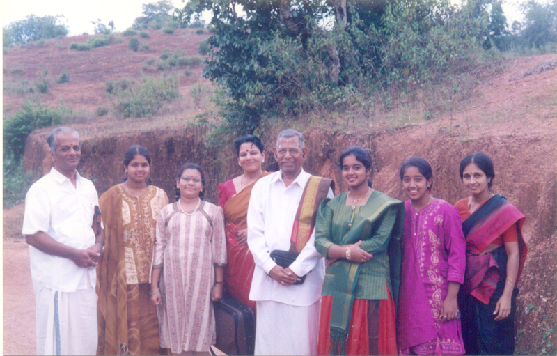 During Spicmacay Concert at Kanchana, Violin Legend MS Gopalakrishnan & his daughter Narmada with Kanchana Family