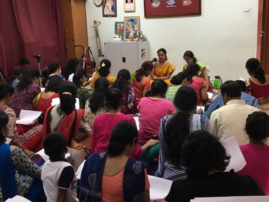 Workshop at Singapore Fine Arts Society by Kanchana Sisters